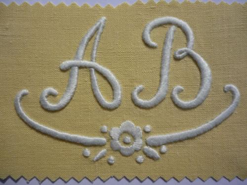 Modele lettre a broder document online - Apprendre a broder des lettres ...